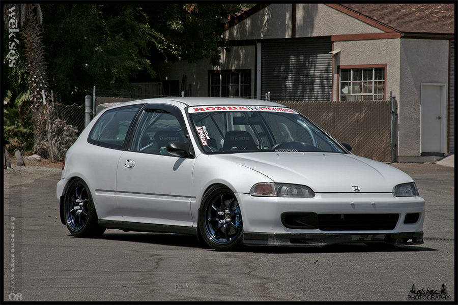 Eg on White With Spoon S Integra Gsr